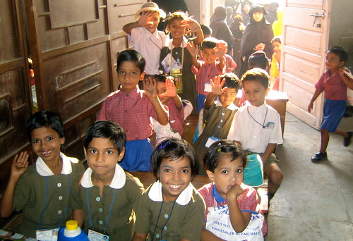 "de kids in het ""Primary School-Project"" van Dharavi"