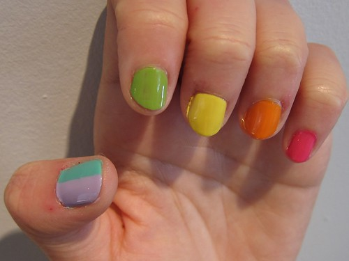 My Rainbow Nails Left Hand