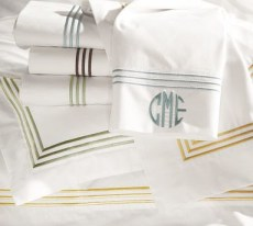 grand embroidered sheet set pottery barn