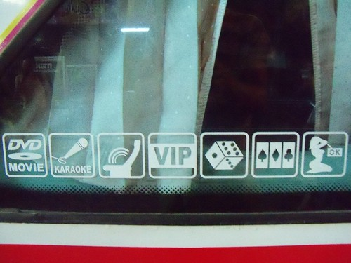 Things that are allowed in the VIP section of the bus