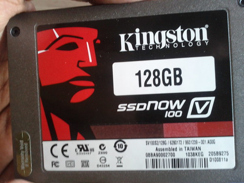 Kingston v100 SSD front side