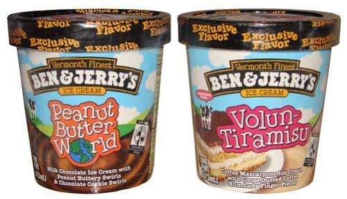 Ben & Jerry's Volun-Tiramisu and Ben & Jerry's Peanut Butter World