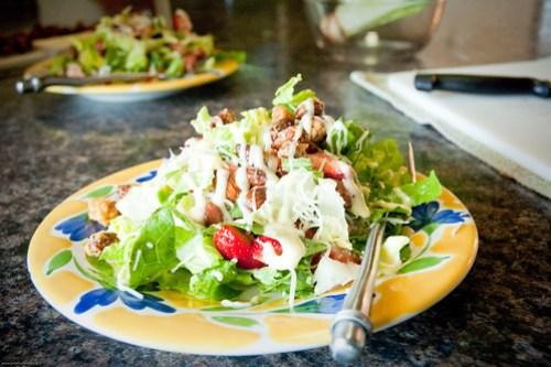 Strawberry poppy seed salad