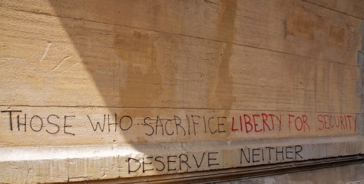 Those who sacrifice liberty for security deserve neither