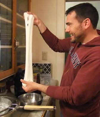 Stretching the mozzarella