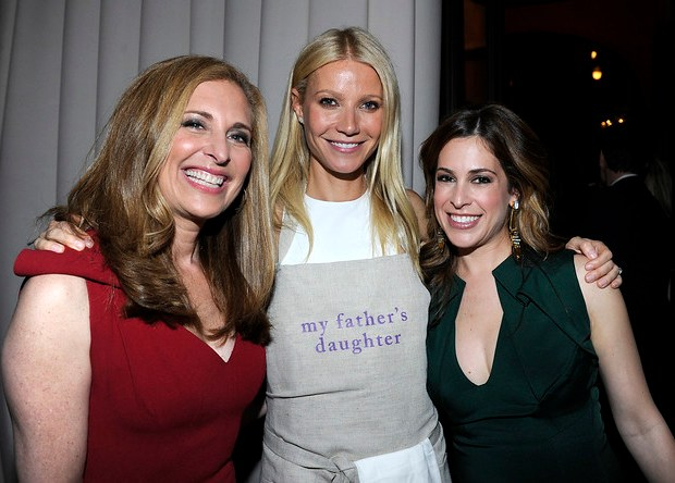 Susan Feldman, Gwyneth Paltrow and Alison Pincus at One Kings Lane Celebration of My Father's Daughter Dinner