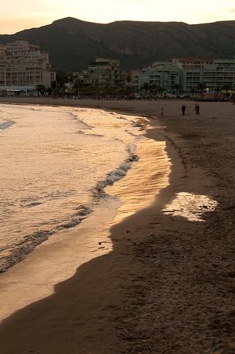 Atardecer en la playa de la concha