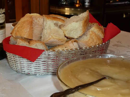 Easter Lunch - Bread and Apple Sauce