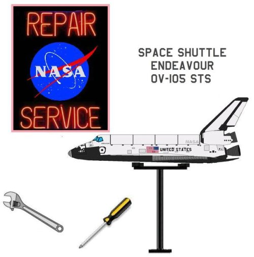 Space Shuttle Back in the Shop