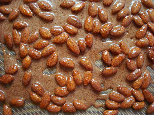 Spiced Almonds! (pre-baking)