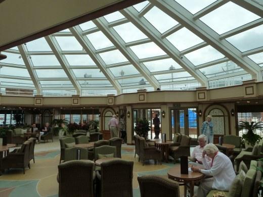 Garden Lounge on Cunard Queen Elizabeth Cruise Ship