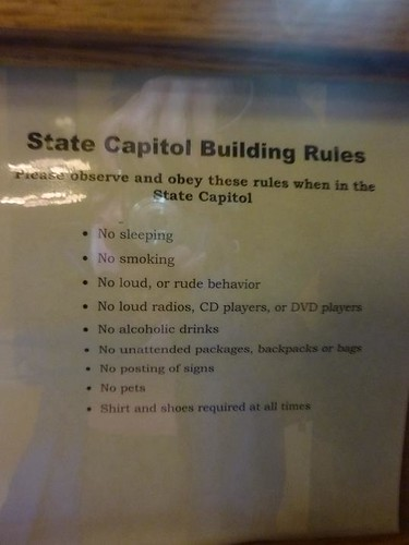 WI, Madison 12 - State Capitol Building Rules