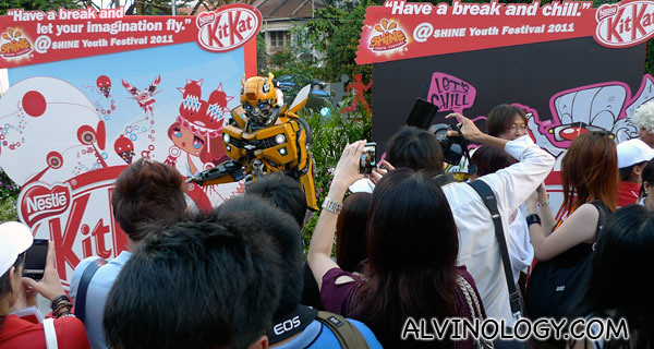 Bumblebee from Transformers was a crowd favourite