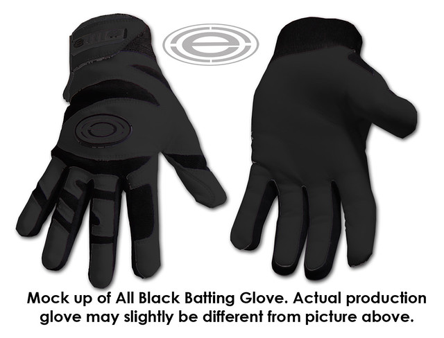 all black glove mock up