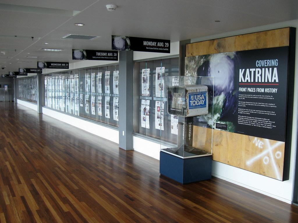 Katrina Exhibit at the Newseum