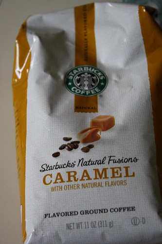 Starbucks caramel coffee