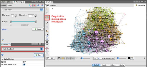 gephi - label adjust