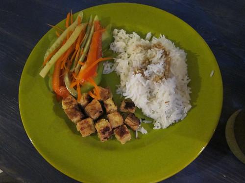 Tofu, Rice & Salad