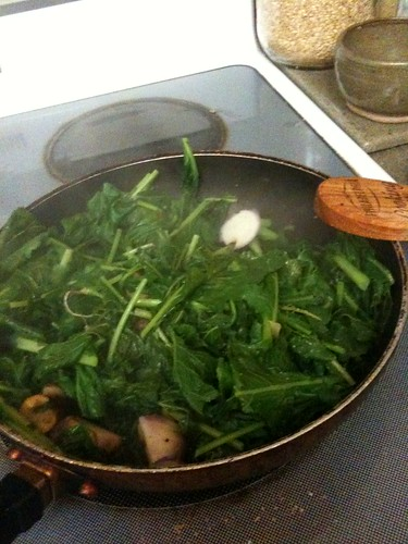 turnips and greens sauteed in butter