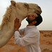 Hi that's me kissing beautiful camel