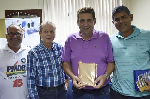 Gregório da Retífica, José Maria Facundes, Dr. Marcos Vinícius e o Ronaldo Oliveira, das Drogarias Oliveira - Foto Emmanuel Franco