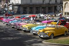 Street scenes around Parque Central in Havana.