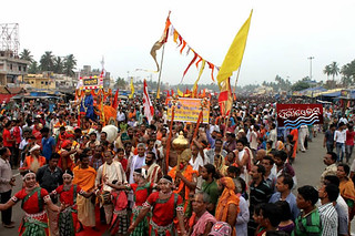 Grand Road filled with devoee as like rathyatra crowd awe