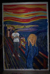 The Scream (camel) 2, street art by the Hotste...