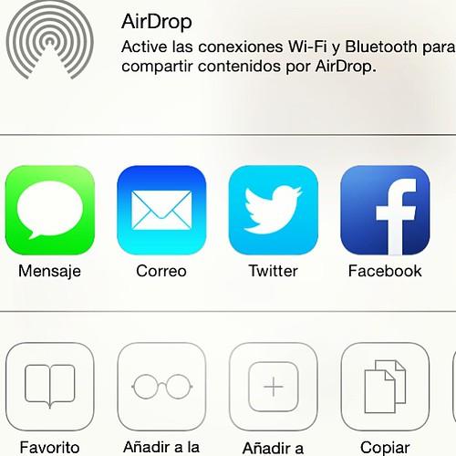 AirDrop en iOS 7. #compudemano #cadadiamejor