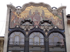 Fabulous Art Nouveau facade of the Torok Bank House