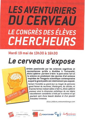 Cité des sciences expo affiche 19 mai 2015