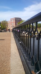 Locks on a bridge in Norfolk