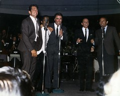 Photograph of the Rat Pack performing together...