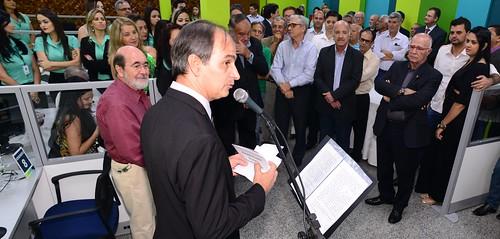 O presidente do Conselho de Administração, Flávio Leal, saudou o homenageado
