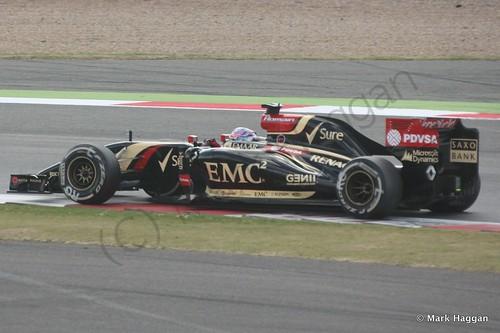 Romain Grosjean in his Lotus during the 2014 British Grand Prix