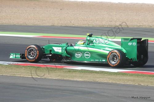 Marcus Ericsson in his Caterham during the 2014 British Grand Prix