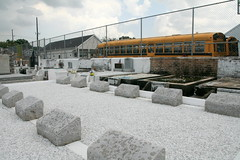 St. Vincents- Van Heuvel's retaining wall is half whitewashed