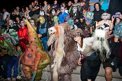 Creatures and Golden Key Holders gather for the H. P. Lovecraft Opera on the Basin Stage