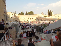 Jerusalem - going to the Western Wall for Shabbat