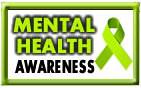 mental health awareness ribbon and badge