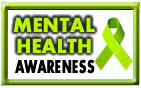 mental health awareness ribbon and badge