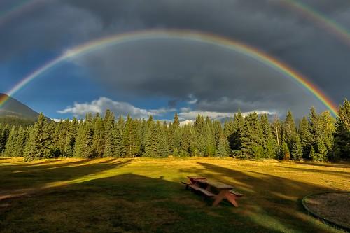 rainbow doublerainbow picnics