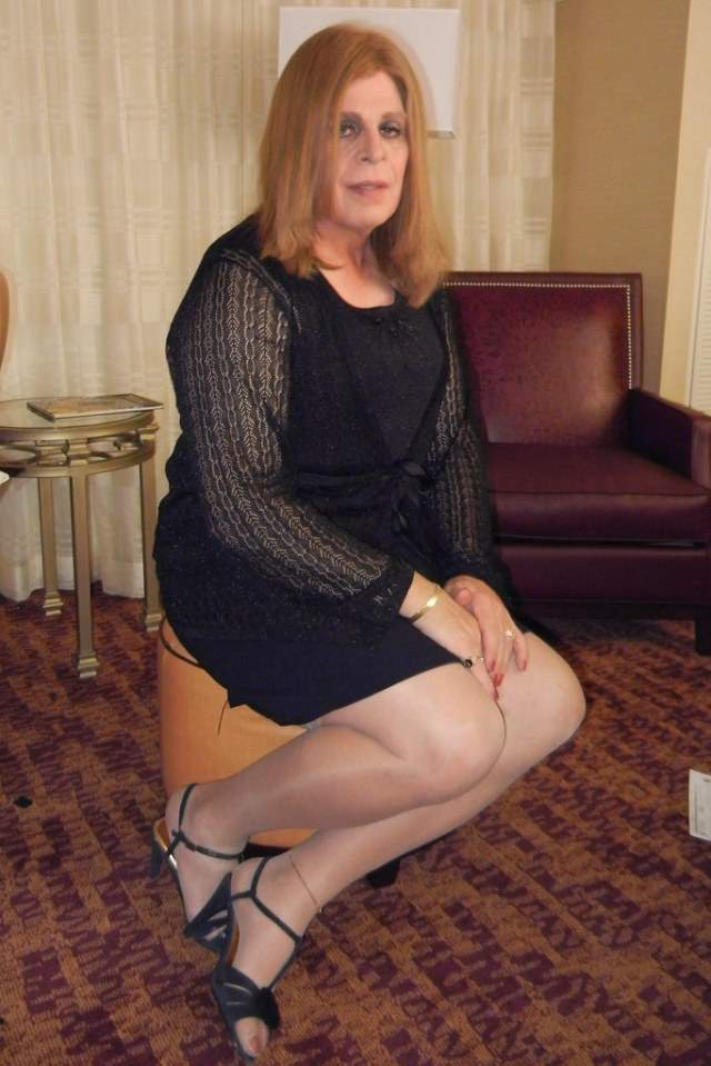 Black Skirt Outfit Patti Anne Tags Sandals Cd Crossdressing Transgender Tranny Heels Ts