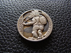 """""""The Wanderer"""" Hobo nickel • <a style=""""font-size:0.8em;"""" href=""""http://www.flickr.com/photos/72528309@N05/9481094832/"""" target=""""_blank"""">View on Flickr</a>"""