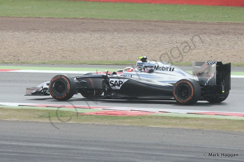 Kevin Magnussen in his McLaren during the 2014 British Grand Prix