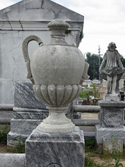 Hecker urn and girl