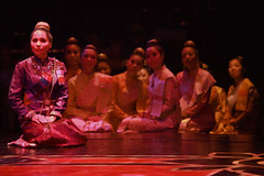 Tami Swartz (Lady Thiang) and the Royal Wives in The King and I produced by Music Circus at the Wells Fargo Pavilion August 6-11, 2013. Photo by Charr Crail.