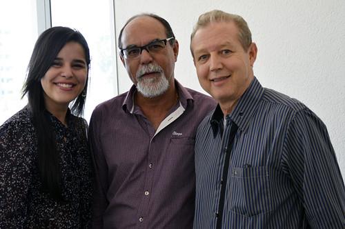 Natália Ferreira, Ladico Oliveira e José Maria Facundes - Foto Emmanuel Franco