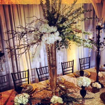 New Year's Eve Wedding Centerpiece — HotHouse Design Studio in Birmingham, AL