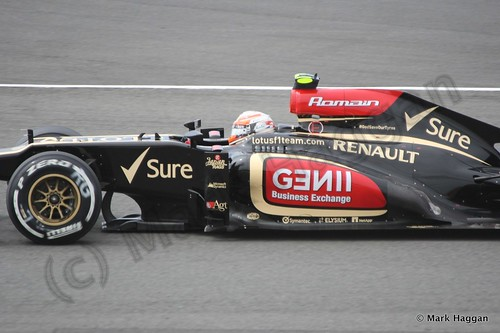Romain Grosjean in Qualifying for the 2013 British Grand Prix
